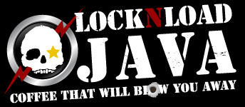 logo for Lock-N-Load Java, veteran owned premium coffee micro roaster