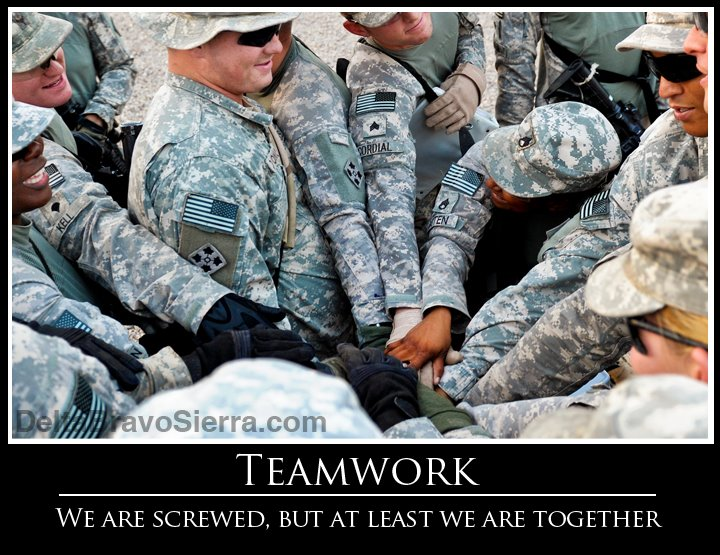 Military Demotivational Poster: Teamwork